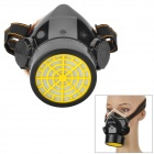 Plastic +  Activated Carbon Protective Gas Half Mask - Black + Yellow + White