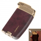 6651 JOBON High Quality Mini Zinc Alloy Butane Tobacco Pipe Lighter - Deep Red+Golden