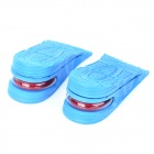 Dual-layer Height Increasing Cloth + Rubber Insole - Blue + Red (Pair)