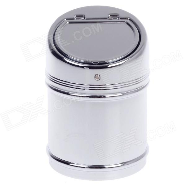Stylish Creative Zinc Alloy Spring Lid Ashtray - Silver ashtray