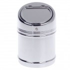 Stylish Creative Zinc Alloy Spring Lid Ashtray - Silver