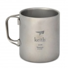 Keith KS812 Dual Layer Titanium Mug - Silver (300ml)