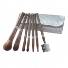 7-in-1 Cosmetic Brush Set - Silver
