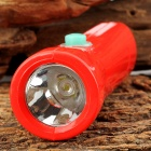 WeiQiang WQ-B19 AC Rechargeable 2-LED White + Ultraviolet UV Flashlight - Red