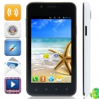 "820(820S) BCM21663 Dual Core Android 4.2.2 WCDMA Bar Phone w/ 4.0"", FM, Wi-Fi, GPS - Black + White"
