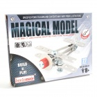 Iron Commander SM126404 DIY Metal Assembled Small Aircraft - Silver + Red