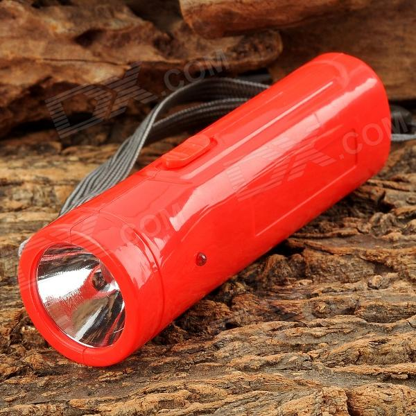 WeiQiang WQ-B18 AC Rechargeable 2-LED White + Ultraviolet UV Flashlight - Red