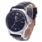 Daybird 3789 Stylish Automatic Mechanical Men's Wrist Watch w/ Simple Calendar - Black + Silver