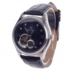 Daybird 3771 Double-Sided Skeleton Automatic Men's Analog Wrist Watch w/ Rhinestone - Black + Silver