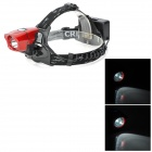 ZHISHUNJIA T09 Cree XP-E R2 160lm 3-Mode White Bicycle Headlamp - Black + Red (1 / 2 x 18650)