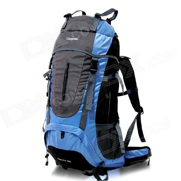 Creeper YD-183 Outdoor Nylon Mountaineering Backpack Bag - Blue (60L) universal nylon cell phone holster blue black size l