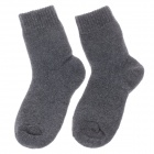 Winter Casual Men's Thickened Warmer Rabbit Wool Cotton Socks - Deep Grey (Pair)