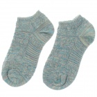 Casual Men's Outdoor Sports Cotton Socks - Blue (Pair)