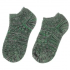 Casual Men's Outdoor Sports Cotton Socks - Green (Pair)