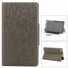 Stylish Oracle Lines Style Protective PU Leather Case for Google Nexus 7 II - Grey Brown