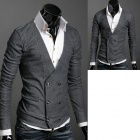 MONSEDEN Y01 Fashionable Personality Cardigan for Men - Grey (Size-L)