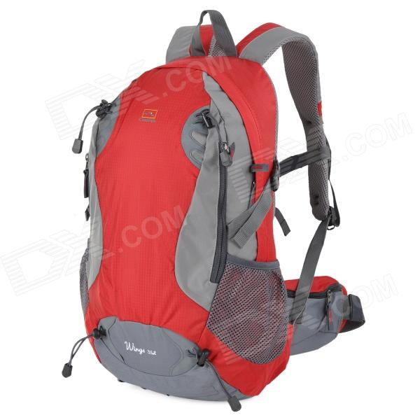 Creeper YD-127 Outdoor Camping Oxford Backpack Bag - Red (35L) large capacity 65l men women outdoor camping tactical travel backpack hiking bag mountaineer rain cover metal frame back pack
