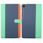 Protective PU Leather Case Cover Stand for Google Nexus 7 II - Light Green + Blue + Orange