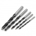 ALAOA 163350 5-in-1 Woodworking Steel Lip and Spur Drill Bits - Silver + Black