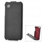 HOCO Fashionable Flip-open Split Leather Case for Iphone 5S - Black
