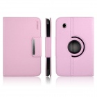 ENKAY ENK-7021 360 Degree Rotation PU Leather Case Stand for Samsung Galaxy Tab P3100 / P3110 - Pink
