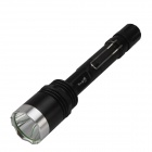 SingFire SF-714 Cree XM-L T6 800lm 5-Mode White Tactical Flashlight - Black + Silver (2 x 18650)