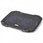 Popupine F2 PRO USB 2-Fan Cooling Pad for Laptops - Black