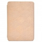 Checked Style Protective PU Leather + Plastic Case for Ipad MINI - Champagne