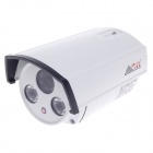 "CARD LEAD CL-9015ZL/AS 1/3"" 800TVL PAL Surveillance Security CCD Camera w/ 2-IR LED - White+Black"