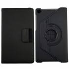 360' Rotation Protective Carbon Fiber Cloth + PC Case Cover Stand for Google Nexus 7 II - Black