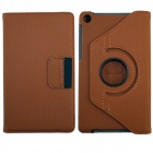360' Rotation Protective Carbon Fiber Cloth + PC Case Cover Stand for Google Nexus 7 II - Brown