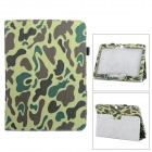 Protective PU Leather Case for Samsung Galaxy Tab 3 10.1 P5200 - Camouflage Green