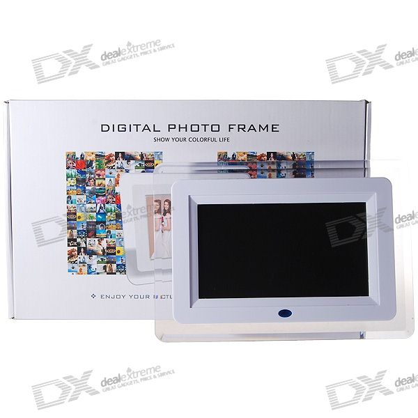 "7"" Wide Screen TFT LCD Digital Photo Frame and Video Player with Remote (480*234px)"