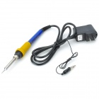 BEST BST-102A 100W Temperature Adjustable Constant Soldering Iron - Silver + Blue + Black (US Plug)