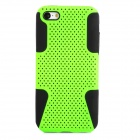 2-in-1 Protective Plastic + Silicone Back Case for Iphone 5C - Green + Black