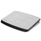 Popupine N100 Dual USB Quiet 6-Fan Cooling Pad for Laptops - Black