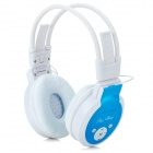 PS-399 Stylish MP3 Player Sport Folding Headphones w/ FM / TF - Blue + White