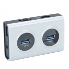 UGREEN 20261 Super Speed 5Gbps 4-Port USB 3.0 Hub w/ Switch - White + Black