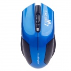 Microkingdom M7 Vogue Wireless 2.4G 1200dpi Optical Mouse - Blue + Black (2 x AAA)