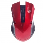 Microkingdom M9 Vogue Wireless 2.4G 1200dpi Optical Mouse - Black + Red (2 x AAA)