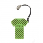 T-Shirt Shaped  USB 2.0 MicroSD / TF Memory Card Reader - Green