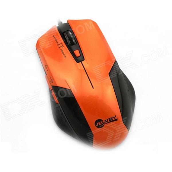 Jeway JM-1201 800/1200/1400/1600 DPI USB Wired Mouse  6D optical Gaming Mouse - Orange + Black