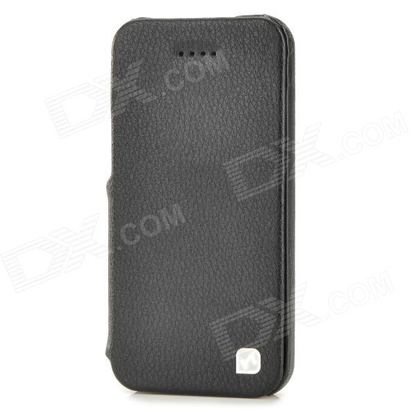 HOCO Fashionable Flip-open Split Leather Case for Iphone 5C - Black - DXLeather Cases<br>Brand HOCO Quantity 1 Piece Color Black Material Split Leather Compatible Models Iphone 5C Auto Wake-up / Sleep NO Other Features Using genuine leather and Bayer PC; fine workmanship and sleek design; protects your device from dust shock scratch and abrasion. Packing List 1 x Case<br>