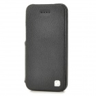 HOCO Fashionable Flip-open Split Leather Case for Iphone 5C - Black