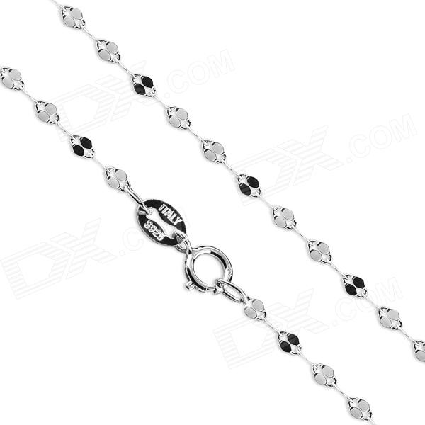 eQute CSIW20S1 S925 Sterling Silver Sparkle Chain - Black + Silver (16) equte s925 sterling silver long six sides cylindrical chain necklace silver 16