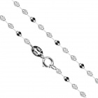 "eQute CSIW20S1 S925 Sterling Silver Sparkle Kette - Schwarz + Silber (16 "")"