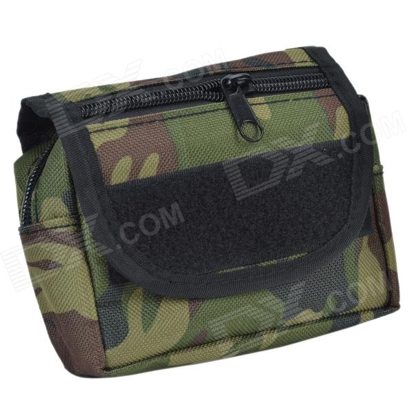 800D Waterproof Fabrics Small Outdoor Waist Bag - Army Green Camouflage