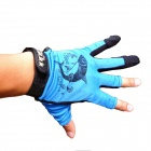 Outdoor Fishing Anti-Skid Gloves - Blue + Black