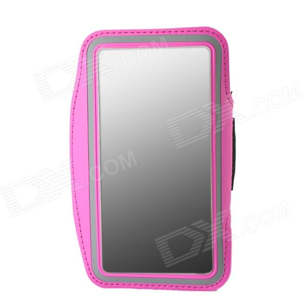 цена на Protective Neoprene Sport Armband for Samsung Galaxy Note 3 N9000 - Deep Pink + Black + Silver Grey
