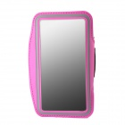 Protective Neoprene Sport Armband for Samsung Galaxy Note 3 N9000 - Deep Pink + Black + Silver Grey